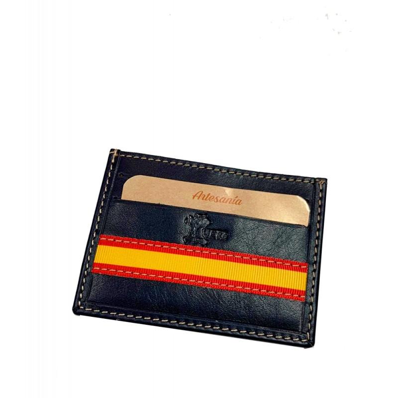 "Leather card holder ""Flag of Spain"""
