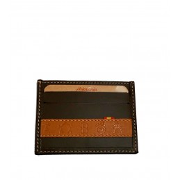 """""""Livestock irons"""" Leather card holder"""