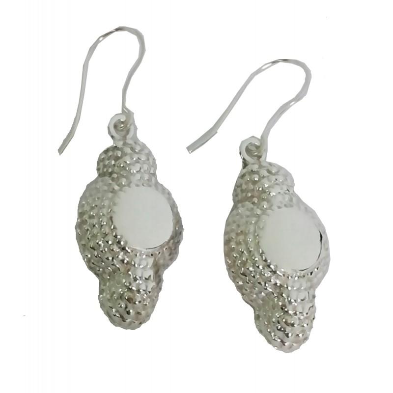 """Montera"" bullfighting silver earrings"