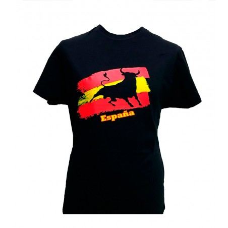 """""""Bull and Flag of Spain Toro and"""" adult T Shirt"""