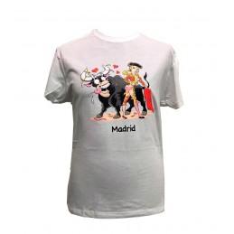 """Camiseta """"Toro y torera"""" de adulto"""