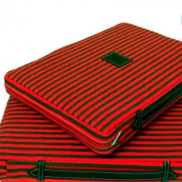 Almohadilla taurina colores verde y rojo
