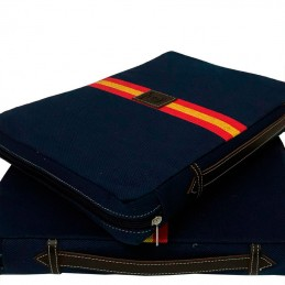 Almohadilla taurina azul con bandera de España