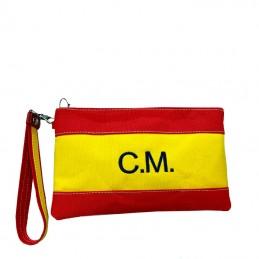 "Cartera de mano, bolso o Clutch, ""Bandera de España""-personalizada"