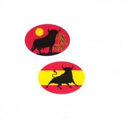 Pegatinas de la bandera de España y de toro