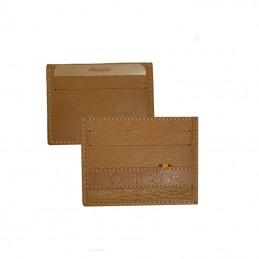 Porte-cartes en cuir et fer...