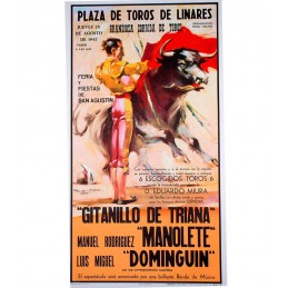 Bullfighting poster bullfighting myths model Linares