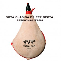 Bota de Vino CLASICA recta de pez- PERSONALIZADA