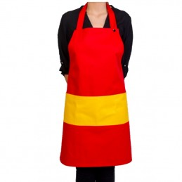 Spain bib apron with pocket