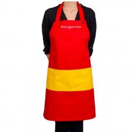Delantal bandera España peto Personalizado