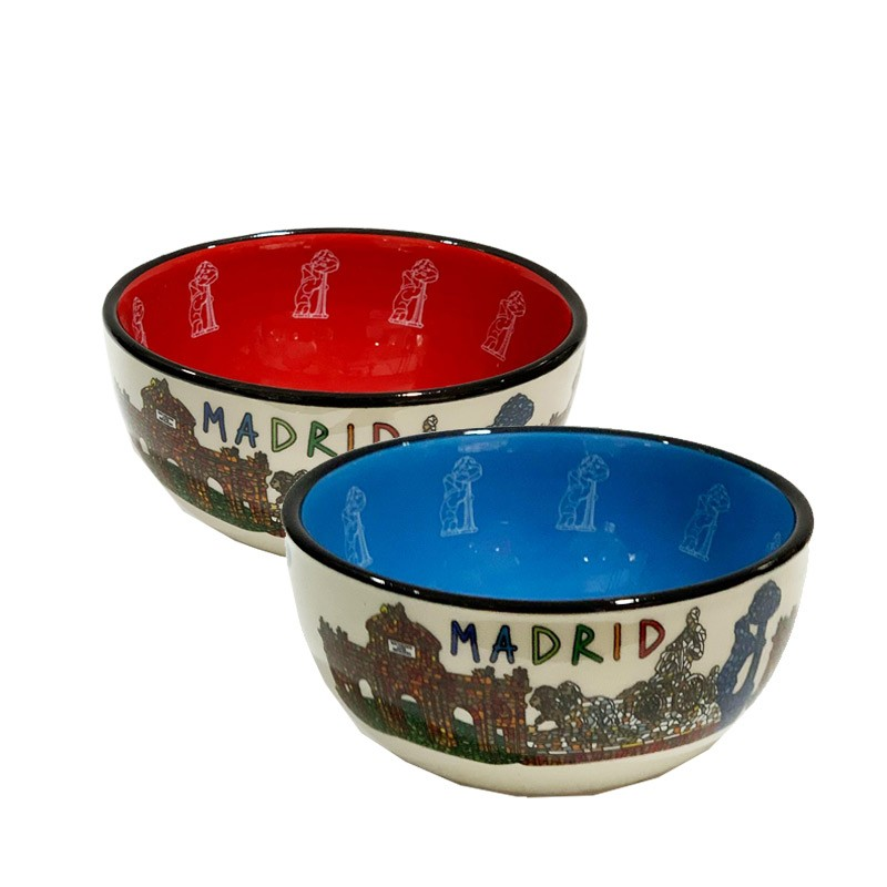 """Small ceramic bowl  monuments of the City of """"Madrid"""""""