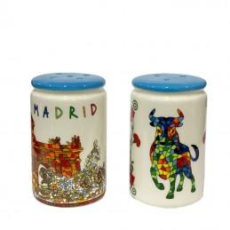 Juego de Sal y pimienta Toro Madrid trencadis
