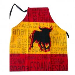 """Delantal de cocina """"Bandera de España y Toro"""""""
