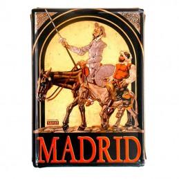 """Placa decoración metálica """"Don Quijote y Sancho Panza"""""""
