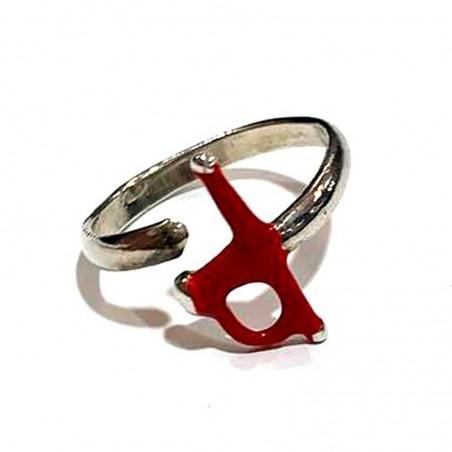 Bullfighting ring, rapier model in sterling silver