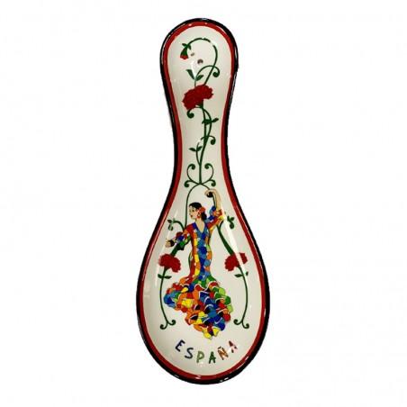 Apoya cucharas Flamenca de Trencadís