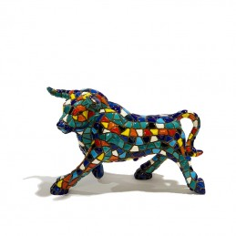 Blue Mosaic Bull from Barcino