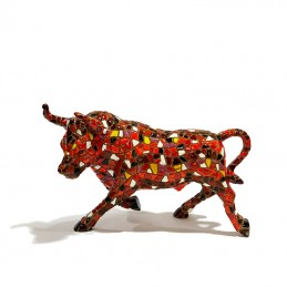 Trencadis Orange Mosaic Bull