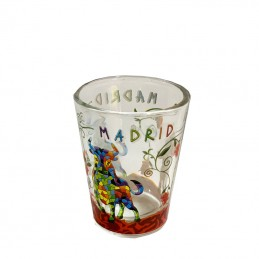"Vaso de cristal ""Toro y Madrid"" Trencadís"