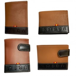 Leather wallet with Cattle...