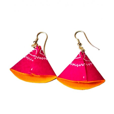 Pendientes taurinos de capote, diseño de ZiNGS