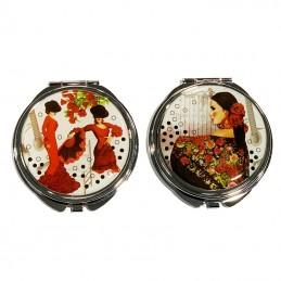 espejo de bolso flamenca