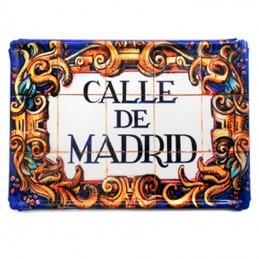 Placa Metálica – Ilustración, Calle de Madrid