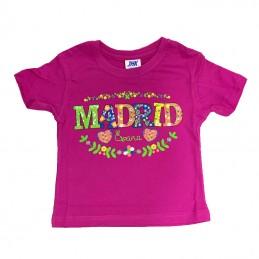 Camiseta flores Madrid infantil