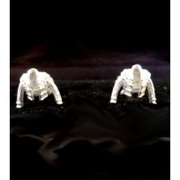 """Gemelos taurinos de plata """"chaquetillas"""""""