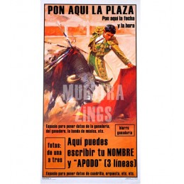 Customizable bullfighting posters with photo