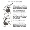 Amateur flamenco castanets