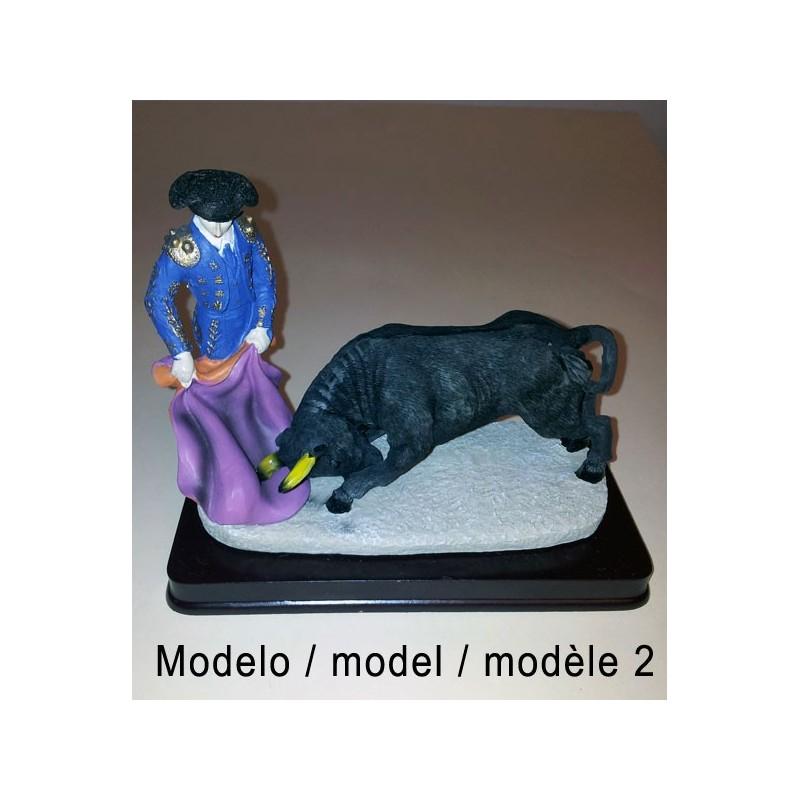 Bullfighters and bulls figures