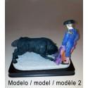 Figuras de toreros y toros