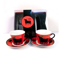 Toro de Osborne coffee cups set