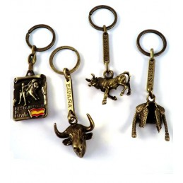 Bullfighting copper keychains