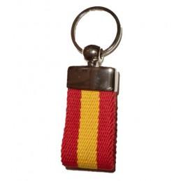 Llavero cinturón con bandera de España