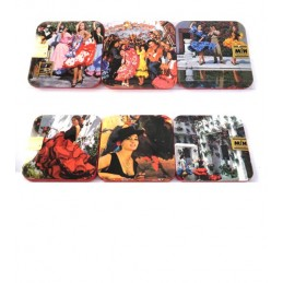 Flamenco drink coasters
