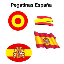 Pegatinas de la bandera de España