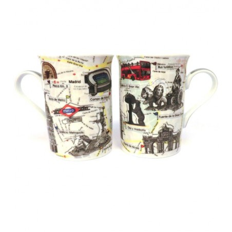 "Set of two cups ""Madrid"""