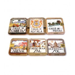 "Coasters ""Old Madrid Streets"""