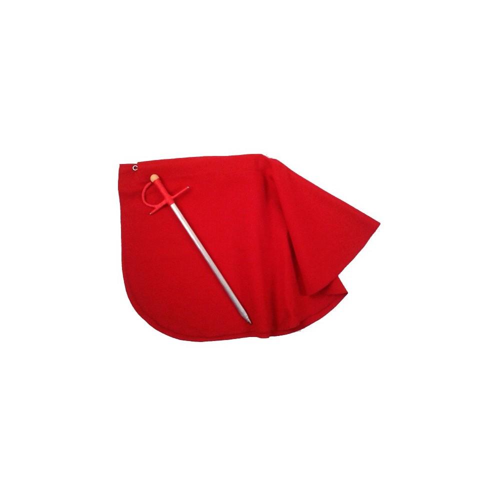 Cape rouge de torero pour enfant et estaquillador