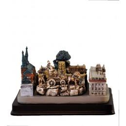 Collage des monuments de Madrid