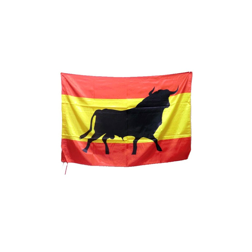 Drapeau de l' Espagne et taureau