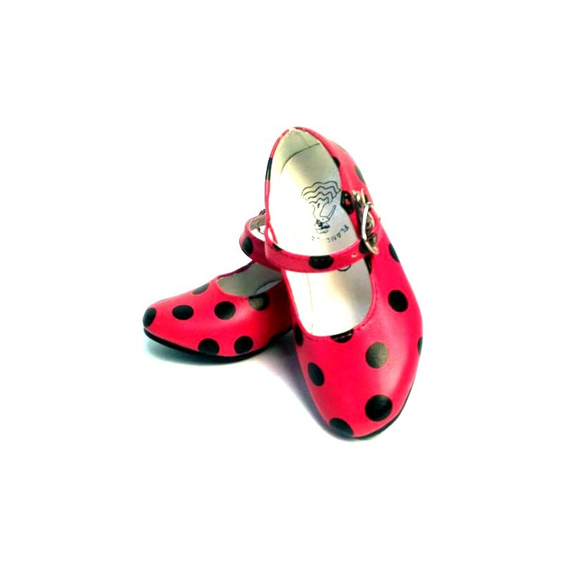 Zapatos infantiles y de adulto de flamenca