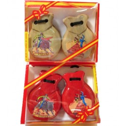 Amateur flamenco dancers castanets