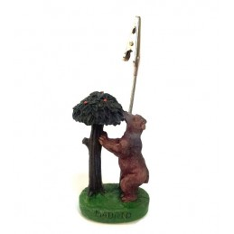 "Bear and ""madroño"" tree clip note"