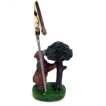 """Bear and """"madroño"""" tree clip note"""