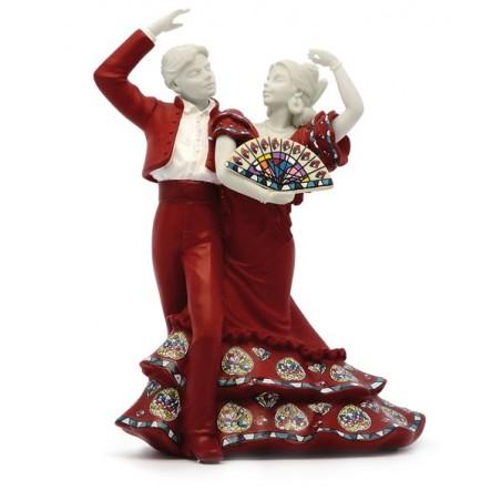 Pareja de bailadores flamencos