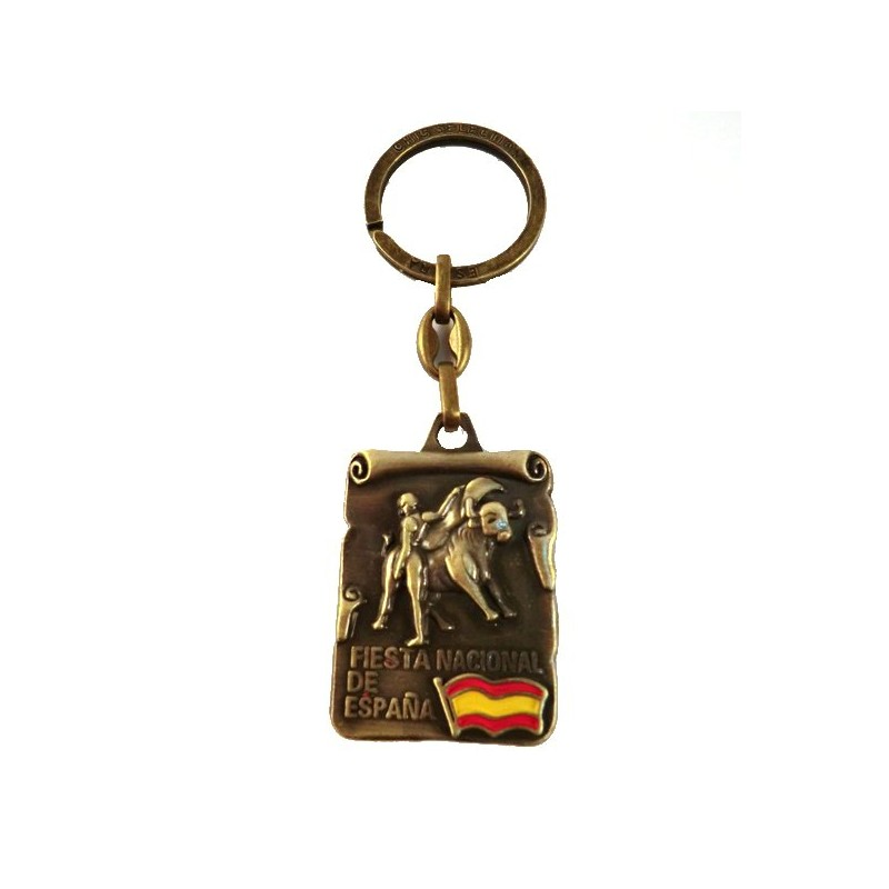Bullfighting copper keychains