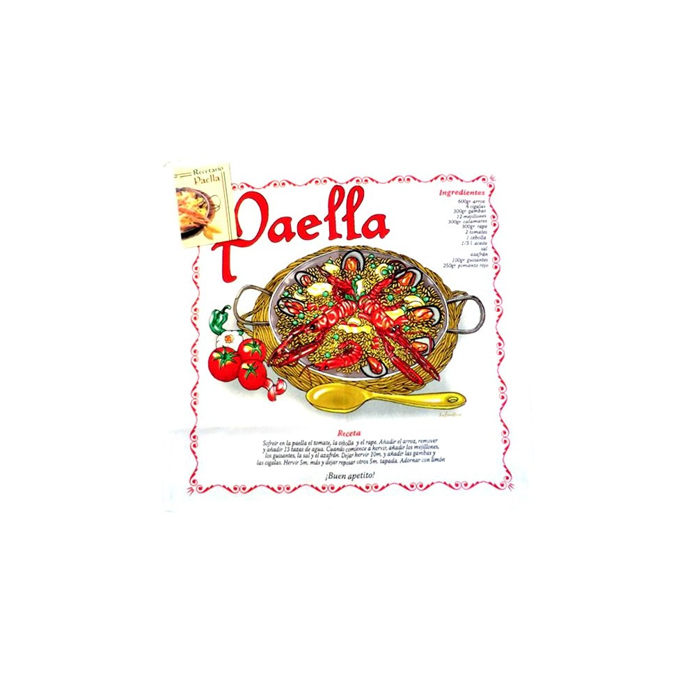 Dish towels with with Spanish recipes